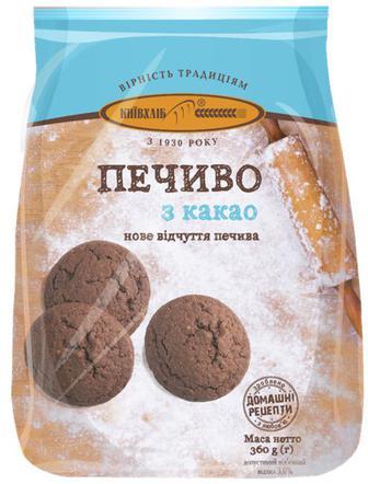 Печиво з какао, 0,36 кг, Київхліб