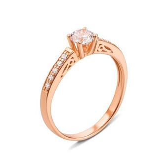 Золотое кольцо с фианитами Swarovski Zirconia. Артикул 12239/SW