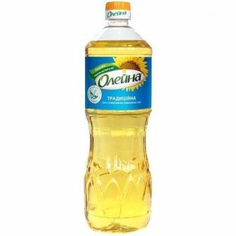 Олія соняшникова рафінована дезодорована Олейна 0,9л