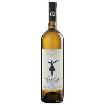 Вино Bugeuli Цинандали белое сухое 0.75 л 12%