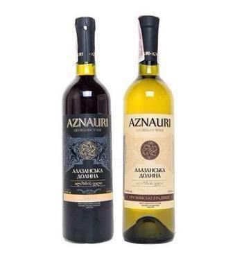 Вино біле або червоне напівсолодке  Aznauri 0.75 л