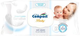 Детские влажные салфетки Ultra Compact 72 шт