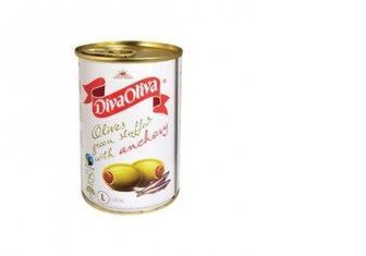 Оливки с анчоусом, 300г, DIVA OLIVA