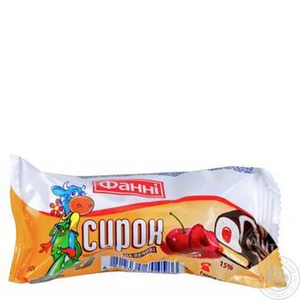Сирок Фані вишня глазурований на печиві 15% 50г