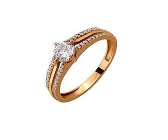 Золотое кольцо с фианитами Артикул 01-17408722