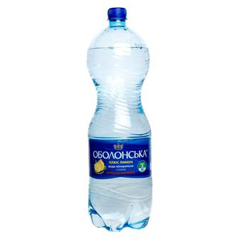 Вода минеральная Оболонь лимон, 2 л