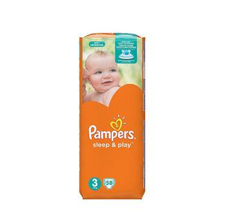 Подгузники Pampers Sleep&Play Midi 3 (5-9 кг) 58 шт
