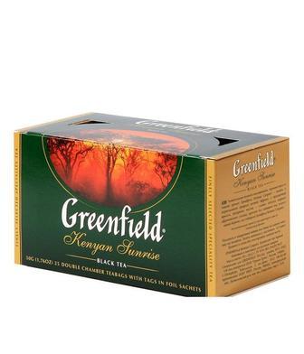 Чай чорний або зелений Грінфілд 25 пак