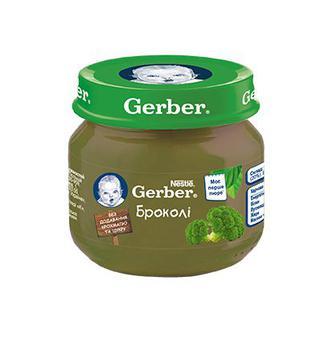 Пюре Gerber брокколи (с 4 месяцев) 80 г