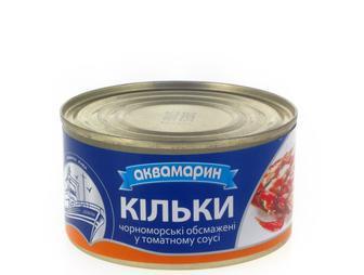 Кілька у томатному соусі, Аквамарин, 230г