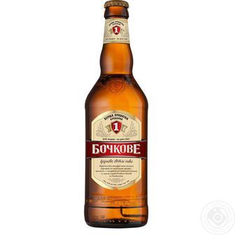 Пиво світле Бочкове Перша приватна броварня 0,5 л