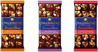 Шоколад Millennium Fruit&Nuts мол.миндаль фундук