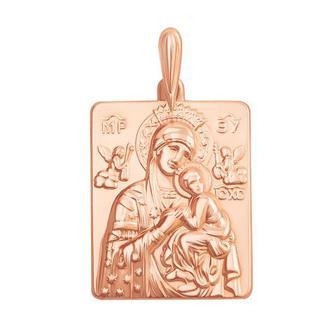 """Золотая подвеска-иконка Божией Матери """"Умиление"""". Артикул 30422"""