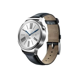 Умные часы HUAWEI Watch (Stainless Steel with Black Leather Strap) (Open box)