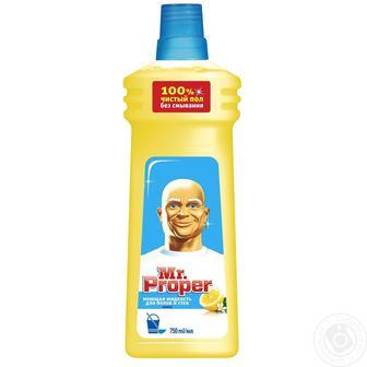 Засіб для миття підлоги та стін Mr. Proper 1л