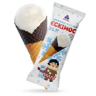 Морозиво ріжок Ескімос Рудь 90 г