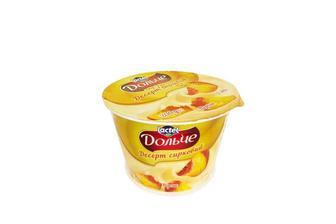 Десерт сирковий Персик, 3,4% Дольче 200 г