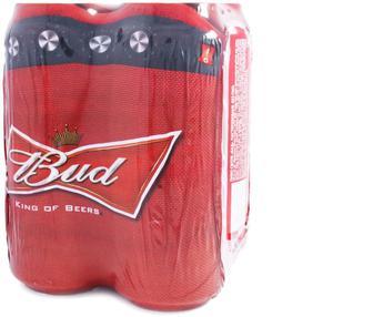 Пиво Bud світле з/б мультипак, 4*0,5л