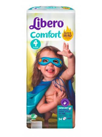 Підгузки Libero Comfort Розмір 4 (7-11 КГ) 54 шт