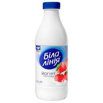 Йогурт Біла Лінія полуниця 1,5% пляшка 900г