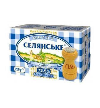 Масло Селянське 72,5% 200 г