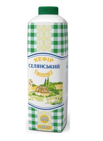 Кефір 2,5% Селянський 950 г