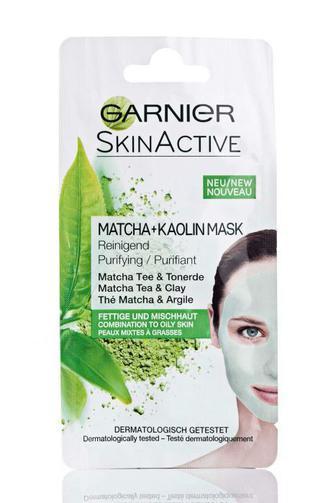 Маска для лица Garnier очищающая для комбинорованной и жирной кожи, каолиновая, 8мл
