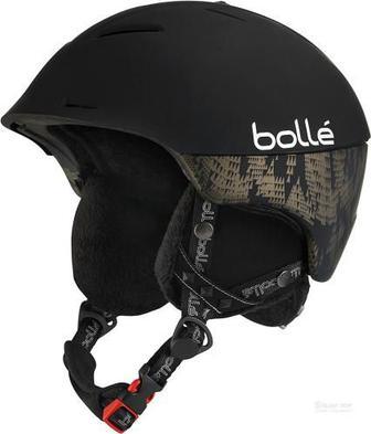 Гірськолижний шолом Bolle Synergy 30376 р. 54-58 чорний із золотистим