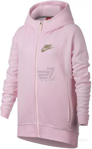Джемпер Nike G Nsw Mdrn Hoodie Fz 890251-632 р. L світло-рожевий