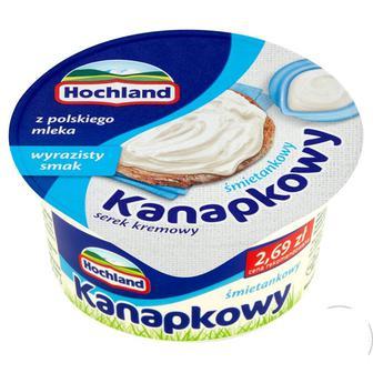 Свіжий крем-сир Hochland вершковий/з шинкою 130г