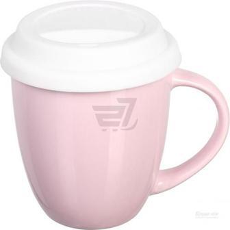 Чашка з кришкою Snug Pink 370 мл Fiora