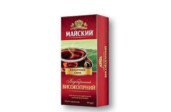 Чай відбірний високогірний, чорний Майский 25 ф/п×2 г