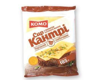 Сир напівтвердий Кантрі 50% КОМО 220 г
