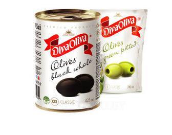 Оливки, маслины Дива Олива б/к, 160 г