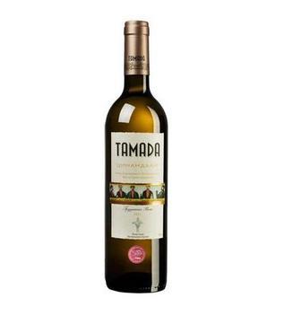 Вино Алазанская долина, Цинандали Тамада красн. п/с, белое сухое 0,75 л