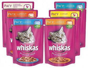 Акция ▷ Жидкий корм для кошек Whiskas 100г