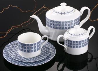 Сервіз чайний Azzurro 20 предметів на 6 персон Fiora
