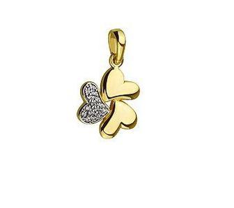 Золотой кулон с фианитами Артикул 15-000094127