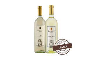 Вино Соаве біле сухе, Піно Гріджио біле сухе Данесе 0,75 л