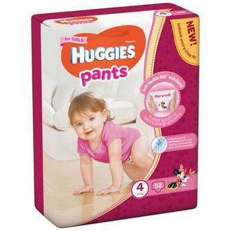 Підгузники-трусики Huggies для дівчаток 3 6-11кг 58шт