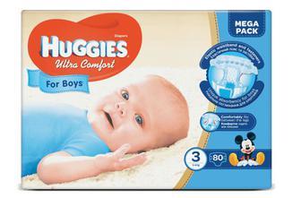 Підгузки Huggies Ultra Comfort для хлопчиків 3 (5-9 кг) 80 шт