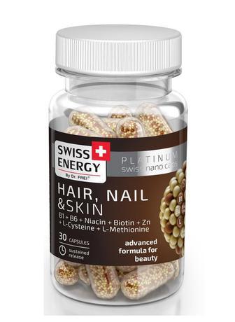 Витамины Swiss Energy Hair, Nail & Skin капсулы №30