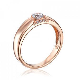 Золотое кольцо с фианитами Swarovski. Артикул 13279/01/0/322