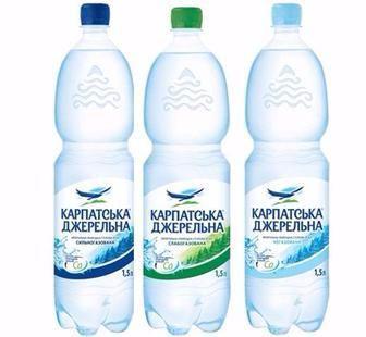 Вода мінеральна Карпатська Джерельна Карпатські мін. води 1,5л