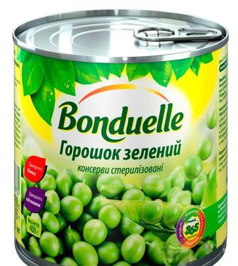 """Скидка 24% ▷ Горошок зелений конс.з/б,  """"Bonduelle"""", 425 мл"""