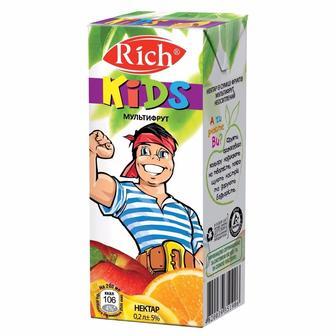 Нектар Мультифрукт Rich Kids 0,2л