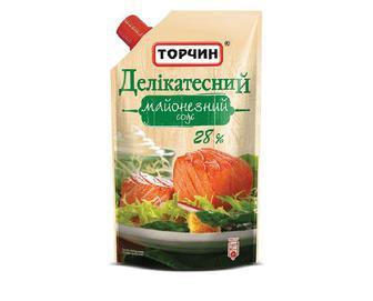 Майонезний соус «Торчин» «Делікатесний» 28% жиру, 300г