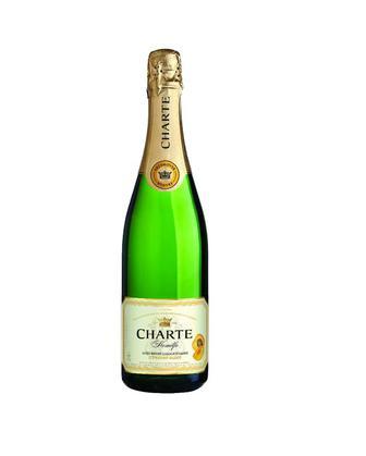 Вино игристое  Шарте Комильфо с ароматом клубники, абрикоса, роз/белое, п/сл, 0,75 л