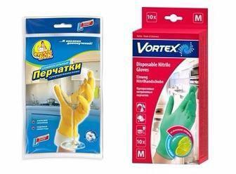 Рукавички одноразові Vortex з ароматом лайму р. (M)