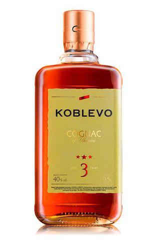Коньяк KOBLEVO 3 звезды Объем 0,5 л Крепость 40%